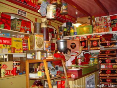 Tinte, Museum in den Halven Maen, deel van het interieur van de kruidenierswinkel.