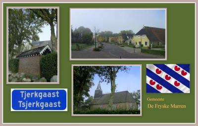 Tjerkgaast, collage van dorpsgezichten (© Jan Dijkstra, Houten)
