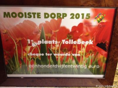 Tollebeek is in 2015 voor de 2e keer op rij verkozen tot Mooiste Dorp van de Noordoostpolder.