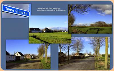 Tweesluizen, collage van buurtschapsgezichten (© Jan Dijkstra, Houten)