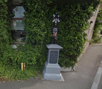 Ubachsberg, wegkruis hoek Kerkstraat-Hunsstraat (© Google)