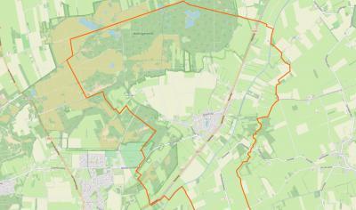 Uffelte is een compact dorp, gelegen NO van Havelte, met een omvangrijk buitengebied, met daarin o.a. de buurtschap Holtinge en het uitgestrekte natuurgebied Holtingerveld. (© www.openstreetmap.org)
