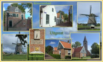 Uitgeest, collage van dorpsgezichten (© Jan Dijkstra, Houten)