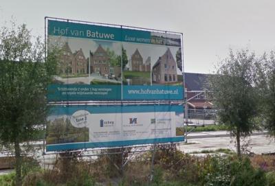 Van 2015 tot 2019 is in Uitweg het nieuwe wijkje Hof van Batuwe gerealiseerd. (© Google StreetView)