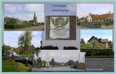 Uitwellingerga, collage van dorpsgezichten (© Jan Dijkstra, Houten)