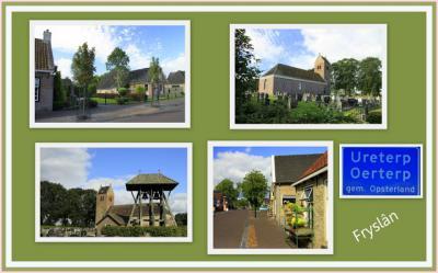 Ureterp, collage van dorpsgezichten (© Jan Dijkstra, Houten)
