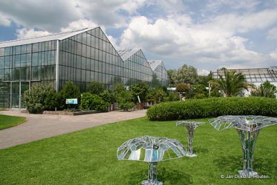 Utrecht, de Botanische Tuinen zijn een oase van rust tussen de snelwegen rondom Utrecht