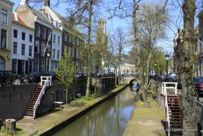 Utrecht, de Nieuwegracht, met zijn werven en werfkelders