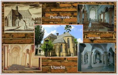 De Pieterskerk uit 1048 is de oudste kerk van Utrecht. Zeer bijzonder zijn de eeuwenoude kleurrijke muurschilderingen, de vier zeldzame 12e-eeuwse reliëfs en een beschilderde grafkist uit de 14e eeuw. (© Jan Dijkstra, Houten)