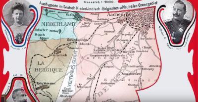 Op deze ansichtkaart, uit ca. 1900, kun je het vierde 'landje', als taartpunt Z van Vaals, mooi zien liggen. Er zijn al diverse boeken en reportages over dit wonderlijke gebied verschenen. Zie verder bij Vierlandenpunt.