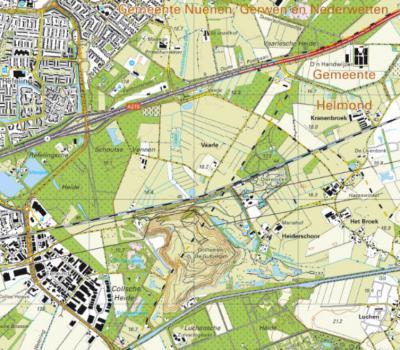 Sinds 2006 zijn de meeste panden aan de weg Vaarle uitgekocht en afgebroken t.b.v. de herinrichting van de omgeving tot Landgoed Gulbergen. In de thans voormalige buurtschap en omgeving wordt in dat kader Bosplan Vaarle gerealiseerd. (© Kadaster)