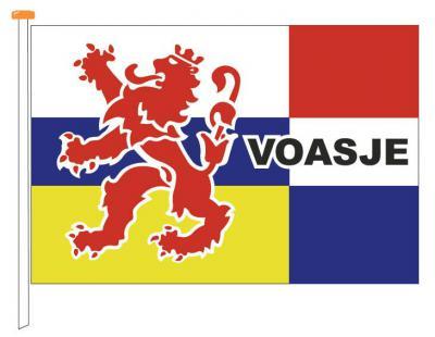 Het dorp Vaesrade heeft een fraaie dorpsvlag. Hier zie je een getekende versie ervan.