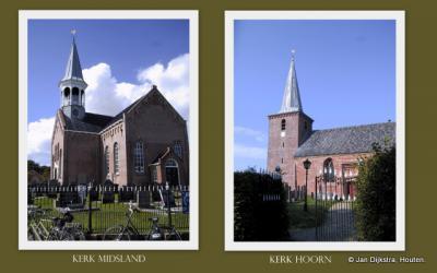 Op Terschelling kun je diverse prachtige oude kerkjes vinden, waaronder deze in Hoorn en Midsland