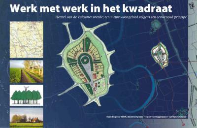 Grontmij heeft in 2004 het prijswinnende idee 'Werk met werk in het kwadraat' ingezonden, inhoudende het realiseren van een nieuw dorpje op de met baggerspecie opgehoogde wierde van Valcum. Ondanks enthousiaste reacties is het plan toch niet doorgegaan.