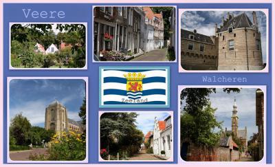 Veere, collage van stadsgezichten (© Jan Dijkstra, Houten)