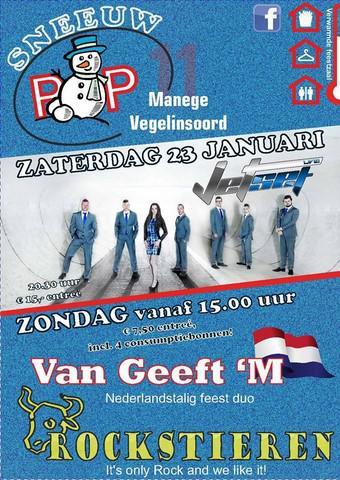 En de 4e zaterdag van januari is er het festival Sneeuwpop in Vegelinsoord