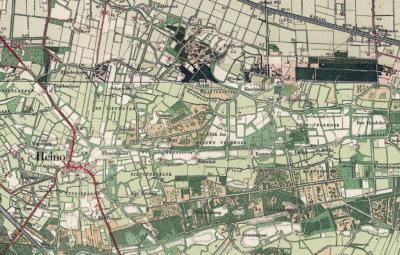 Buurtschap Veldhoek is het omvangrijke landelijke, overwegend agrarische gebied O van Heino. Op oude kaarten, zoals hier op een kaart uit ca. 1920, is sprake van een verdeling van het gebied in de delen Oude Veldhoek en Nieuwe Veldhoek.