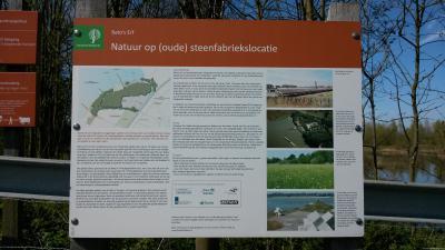 Buurtschap Veluwe, informatiepaneel bij de voormalige steenfabriek Bato's Erf