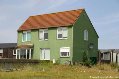 Het enige huis dat nog over was van het plaatsje Viane, het markante groene en van verre al herkenbare pand op Viane nr. 1, is in 2013 verkocht, afgebroken en vervangen door een nieuw huis. Op de foto het oude huis uit ca. 1930.
