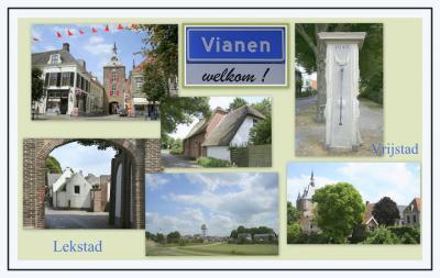 Vianen, collage van stadsgezichten (© Jan Dijkstra, Houten)