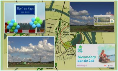 De komende jaren wordt er een geheel nieuw dorp gebouwd, genaamd Hoef en Haag, O van Vianen, N van Hagestein, dat uiteindelijk ca. 1.800 woningen gaat omvatten. (© Jan Dijkstra, Houten)