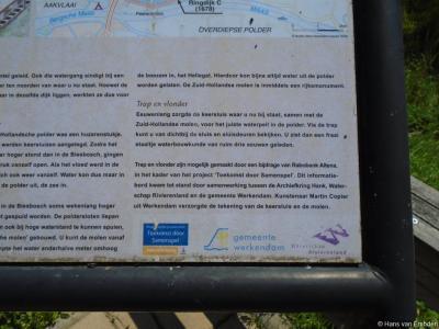 Informatiepaneel m.b.t. de keersluis van de Zuid-Hollandse Polder bij buurtschap Vierbannen, deel 3.