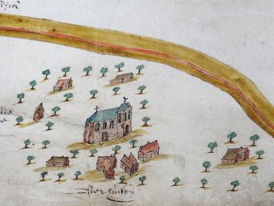 Het dorp Vierhuizen is getuige de naam begonnen als nederzetting van vier huizen. Blijkens deze kaart uit 1626 waren het er toen 'al' acht. (bron: https://groninganus.wordpress.com/2020/08/19/de-omgeving-zoutkamp-vierhuizen-op-een-kaart-van-1626)