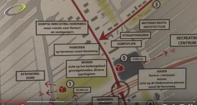 Het centrum van Vinkeveen wordt de komende jaren grootschalig heringericht. Dit kaartje geeft daar een indruk van. Wat er allemaal gaat gebeuren en waarom, kun je lezen in het hoofdstuk Recente ontwikkelingen.