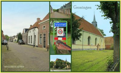 Visvliet, collage van dorpsgezichten (© Jan Dijkstra, Houten)
