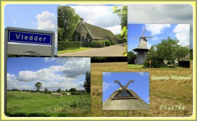 Vledder, collage van dorpsgezichten (© Jan Dijkstra, Houten)