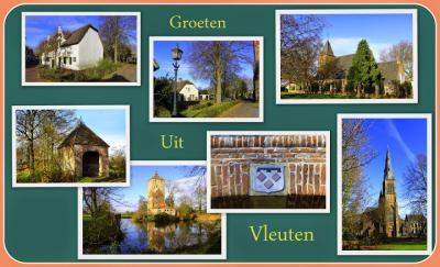 Vleuten, collage van dorpsgezichten (© Jan Dijkstra, Houten)