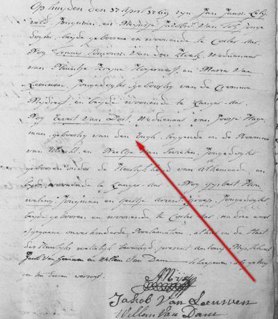 Bijzonder is dat Ridderhofstad Den Engh, direct O van Vleuten, in ieder geval in de 18e eeuw kennelijk ook als 'woonplaats' beschouwd is geweest; in een trouwakte uit 1769 wordt iemand vermeld als 'geboortig van Den Engh'. (collectie Leonard van Kessel)