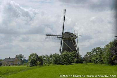 Vreeland, de Hoekermolen in de Hoekerpolder aan de Vecht