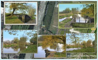 Aan het eind van de Schalkwijksewetering lag het sluisje naar het Lekkanaal. Het is in 2017 afgebroken en iets naar het O weer opgebouwd om ruimte te maken voor verbreding van het Lekkanaal en de aanleg van de 3e kolk in de Beatrixsluis. (© Jan Dijkstra)