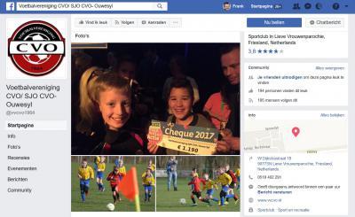 En voetbalvereniging VV CVO wil kennelijk laten blijken dat de vrouwen in Vrouwenparochie ook vandaag de dag nog altijd lief zijn, want noemt hun dorp nog steeds Lieve Vrouwenparochie...