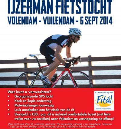 Fietsenzaak IJzerman2wielers in Vuilendam heeft in 2014 een originele fietstocht voor racefietsers georganiseerd, nl. van Volendam naar Vuilendam. Met de bus heen en met de fiets terug, naar keuze 100 of 150 km.