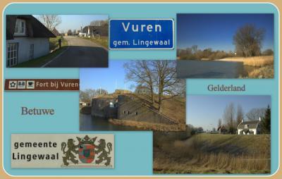 Vuren, collage van dorpsgezichten (© Jan Dijkstra, Houten)