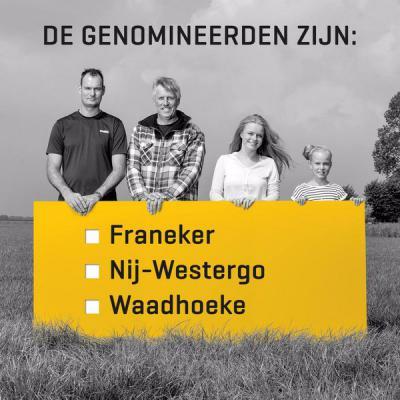 In 2015 zijn door een speciaal ingestelde commissie uit meer dan 500 ingezonden namen er drie genomineerd als naam voor de nieuwe fusiegemeente in Noardwest Fryslân: Franeker, Nij-Westergo en Waadhoeke. In een eerste stemronde viel Franeker af.