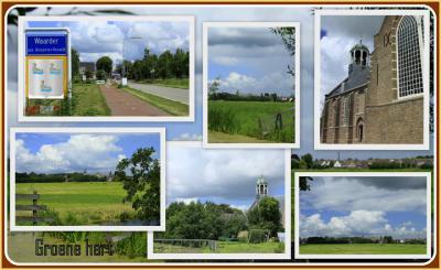 Waarder, collage van dorpsgezichten (© Jan Dijkstra, Houten)