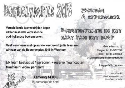 Een van de jaarlijkse evenementen in Wachtum zijn de Boerolympics