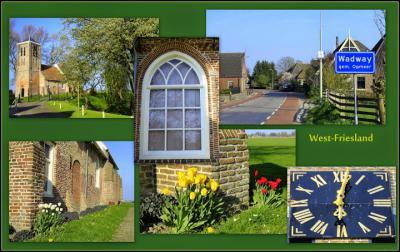 Wadway, collage van dorpsgezichten (© Jan Dijkstra, Houten)