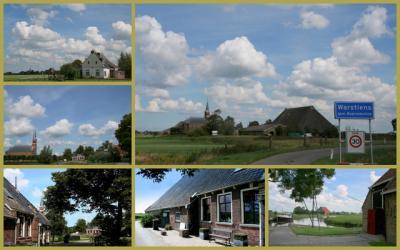 Warstiens, collage van dorpsgezichten (© Jan Dijkstra, Houten)