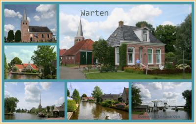 Warten, collage van dorpsgezichten (© Jan Dijkstra, Houten)