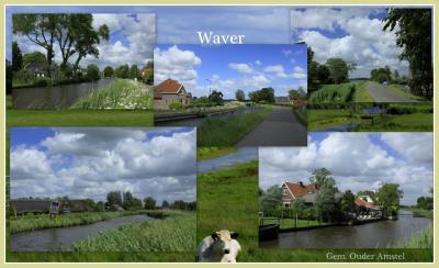 Waver, collage van buurtschapsgezichten (© Jan Dijkstra, Houten)