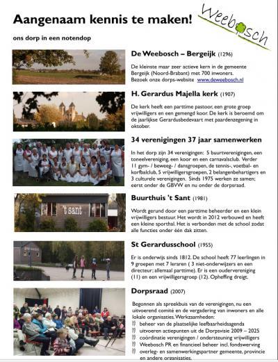 """In 2012 is een mooie flyer gemaakt waar op een rijtje is gezet wat er zo bijzonder is aan dit """"kleinste maar zeer actieve dorp van de gemeente Bergeijk"""". En dat is heel wat! Kijk zelf maar."""