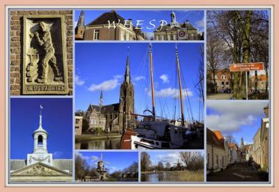 Weesp, collage van stadsgezichten (© Jan Dijkstra, Houten)