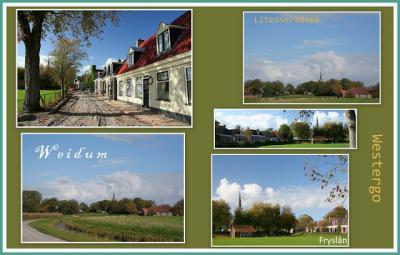 Weidum, collage van dorpsgezichten (© Jan Dijkstra, Houten)