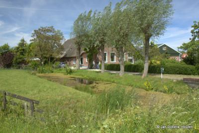 Het mooie landschap van buurtschap Weijland op de noordoever van de Oude Rijn