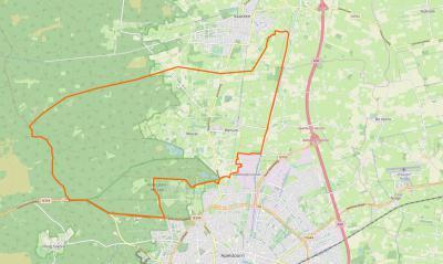 De buurtschappen Wenum en Wiesel zijn samengevoegd tot het dorp Wenum-Wiesel. Het dorpsgebied omvat een relatief compacte kern, met een omvangrijk buitengebied, tussen Apeldoorn in het Z en Vaassen in het N. (© www.openstreetmap.org)