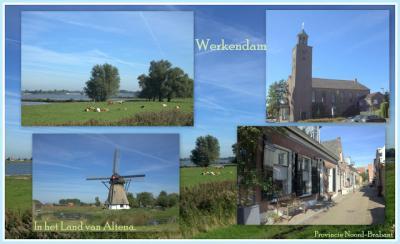 Werkendam, collage van dorpsgezichten (© Jan Dijkstra, Houten)